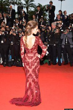 Red lace dress cheryl cole