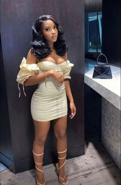 Boujee Outfits, Baddie Outfits Casual, Cute Swag Outfits, Dressy Outfits, Teen Fashion Outfits, Girly Outfits, Cute Birthday Outfits, Birthday Dinner Outfit, Black Girl Fashion