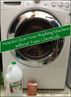 How to Clean Washing Machines with Baking Soda & Vinegar (Front Load and Top Loading)