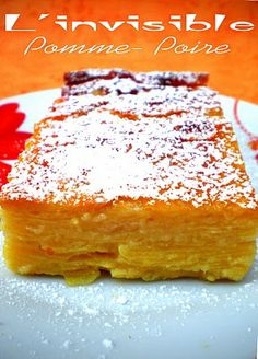 Gâteau invisible pomme-poire pts ww), Recette Ptitchef - Recette L'invisible pomme-poire pts ww) par Pourquoi se priver quand c'est bon et léger? - verlieren verlieren motivation verlieren schnell weight weight food weight in a week No Cook Desserts, Healthy Desserts, Dessert Recipes, Mousse Au Chocolat Torte, Sweet Cooking, Love Food, Sweet Recipes, Sweet Tooth, Bakery