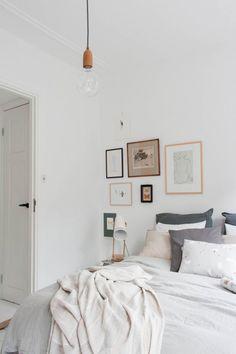 Binnenkijken in een slaapkamer vol prachtige pasteltinten / www.woonblog.be