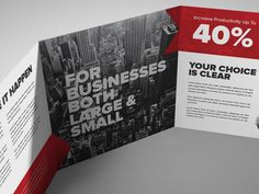 Square Tri-fold Brochure by ben fryc
