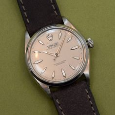 A 1958 vintage Rolex Oyster Perpetual Reference 6564 that comes equipped with a…