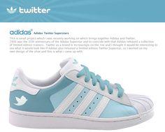 Gerry Mckay a web designer from Glasgow has created two Adidas Superstars concept based on social networks. Adidas Superstars sneakers were wildly popular Limited Edition Trainers, Zapatillas Adidas Superstar, Superstars Shoes, Nike Outlet, Air Max 90, Stylish Men, Look Cool, Swagg, Nike Free