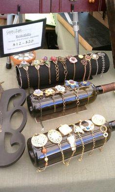 wine bottle - jewelry display on start a fashion truck
