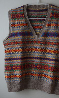 Gussie's wild fair isle - my husband would swoon over this.