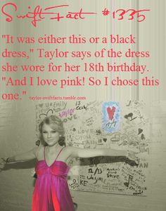 I love pink too Taylor. It's my favourite colour. Taylor Swift Fan Club, Taylor Swift Facts, Taylor Swift Pictures, Taylor Alison Swift, Red Taylor, Live Taylor, One & Only, Being Good, Ed Sheeran
