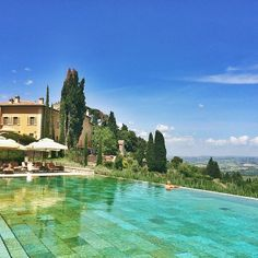 A perfect pool at the 5-star Castiglion Del Bosco in #Tuscany. Photo courtesy of shwidjaja on Instagram.