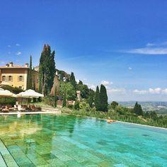 A perfect pool at the 5-star Castiglion Del Bosco in #Tuscany. Photo courtesy of shwidjaja on Instagram.