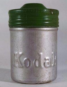 Film Holder KODAK Film Canister Vintage Silver-Green GeoCaching Free Shipping #KODAK