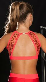 Starmaker Performance Sequin Swirl Two-piece - Star/P3169.  Nylon/Lycra® and sequin swirl mesh high neck crop top featuring an unusual open back design with matching Nylon/Lycra® shorts. #LovinglymadeintheUK
