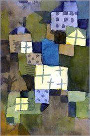 Paul Klee M. Gelben Fenstern (M. Yellow Windows), 1919 Watercolour on paper laid down by the artist on board. Paul Klee Art, Art Moderne, Kandinsky, Art Plastique, Famous Artists, Oeuvre D'art, Les Oeuvres, Art History, Surrealism