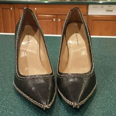 Beautiful Tahari heels Tahari Very cute leather shoes w/ leather sole with stitching. Very original. Worn less than a handful of times! GREAT CONDITION! Tahari Shoes Heels