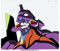 Neon Genesis Evangelion Eva Unit 01 Production Cel (Gainax, c. 1995-96) Neon Genesis Evangelion, Auction, The Unit, Anime, Fictional Characters, Art, Art Background, Kunst, Cartoon Movies