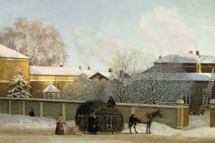 Art oil painting Magnus von Wright Annankatu on a Cold Winter Morning landscape Helsinki, Age Of Empires, Spring Landscape, Paintings I Love, Watercolor Paintings, Illustrations, Art Google, Art Oil, Find Art