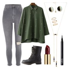 """""""Untitled #31"""" by abby-lombard on Polyvore featuring House of Harlow 1960, River Island, Charlotte Russe, Erica Weiner, NARS Cosmetics, Urban Decay and H&M"""