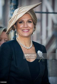 Queen Maxima of The Netherlands arrives at the Anne Frank House during the visit of the President of Argentina on March 27, 2017 in Amsterdam, The Netherlands. The President of Argentina is in the Netherlands for an official two-day state visit.