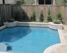 Garden large swimming pool