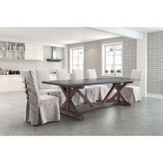 Bellevue Distressed/Black Wood/Metal Dining Table | Overstock.com Shopping - The…