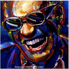 Ray Charles. Artist: Howie Green