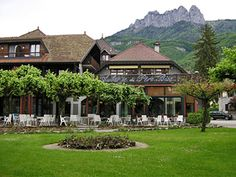 L'Auberge du Pere Bise, Talloires. The restaurant of Francoise Bise, another Point contemporary.