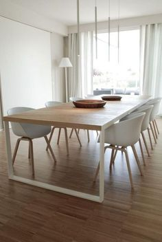 table salle à manger, grande table bois et métal pour la salle à manger