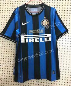 e2b5a9005938 Retro Version Inter Milan Home Blue Black Thailand Soccer Jersey Milan