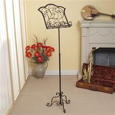 on my Christmas list! gorgeous music stand!