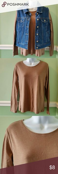 """💕BOGO*Final Price* Long Sleeve Tee* Like new, excellent condition. Part of the """"Layer your Look"""" collection. Cotton and polyester.  Buy one, get one free for select items with 💕 next to it. Free item is equal or lesser value.  Final price!! Will not accept any offers on this item. Bundle to get a bigger discount. 15% off 2 items or more.  **Check Out Monthly Special** ~Free gift with purchase~ Christopher & Banks Tops Tees - Long Sleeve"""