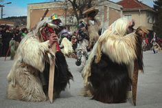Frightening and furry Kukeri coustumes are donned by Bulgarian men as part of traditional rituals to ward off evil spirits. (Photo by Elena Chockova)