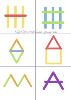 cards for making pictures with pop sticks Preschool Learning Activities, Kindergarten Math, Infant Activities, Preschool Activities, Kids Learning, Busy Book, Kids Education, Kids And Parenting, Popsicle Sticks