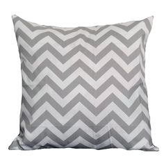 Taylor Marie Grey Chevron 18-inch Pillow Cover - Overstock™ Shopping - The Best Prices on Throw Pillows