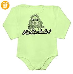 I'm The Dude Drawing Baby Long Sleeve Romper Bodysuit Large - Baby bodys baby einteiler baby stampler (*Partner-Link)