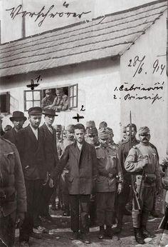 Nedeljko Čabrinović und Gavrilo Princip after the arrest 1914