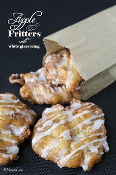 Apple Fritters (Bur Tufaax) Beignets aux Pommes فطائر التفاح | Xawaash.com