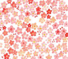sakura Japanese Patterns, Japanese Fabric, Scrap, Pretty Patterns, Textile Patterns, Paper Design, Surface Design, Flower Designs, Fabric Textures