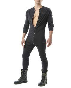 Union Suit, Black, S : Men underwear briefs bulge handsome sexy masculine gay fashion Golf Fashion, Fashion Night, Mens Fashion, Mode Masculine, Mens Onesie, Mode Man, Union Suit, Men's Undies, Long Underwear
