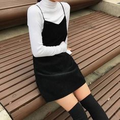 Fashion k fashion k style style moda sexy style sexy fashion sexi moda korean girl kore korean fashion korean style Korean Fashion Trends, Asian Fashion, Look Fashion, 90s Fashion, Trendy Fashion, Fashion Outfits, Fashion Black, Fashion Ideas, Korean Fashion Winter
