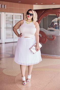 I like the shape of the bodice and the cutout at the midriff (which I don't always love), and the pleating of the skirt gives it interesting vertical dimension - Gabifresh