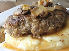 Healthier #Salisbury #Steak:  260 calories per serving!