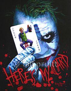 This, I want - Joker Heath Ledger Dark Knight art print 12x16 by billpruittart, $15.00