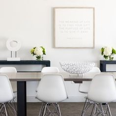 Photo by REFRESH DESIGN in Chelmsford, Massachusetts with @keltar31, @serenaandlily, @emmorworks, @lovelauradavidson, and @emilyobrienphoto_design. Chelmsford Massachusetts, Minimalist Dining Room, Dining Chairs, Dining Table, Mid Century Modern Furniture, Cool Chairs, Dining Room Design, Modern Chairs, Room Decor