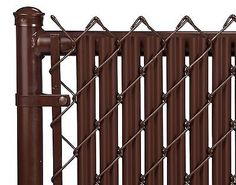 Chain Link Brown Single Wall Ridged™ Privacy Slat For 6ft High Fence Bottom Lock in Home & Garden, Yard, Garden & Outdoor Living, Garden Fencing | eBay