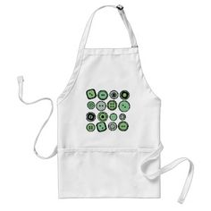 green buttons apron