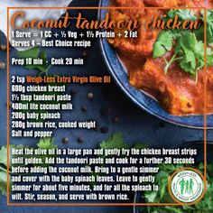 Tandoori Paste, Tandoori Chicken, Eating Clean, Eating Well, Dip Recipes, Chicken Recipes, Healthy Meals, Healthy Dinner Recipes, Bacon Cheese Dips