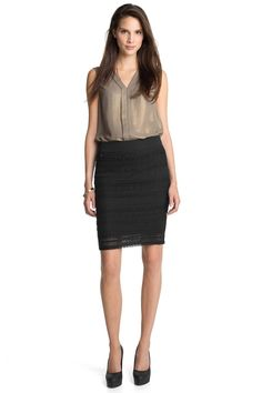 Stretchy lace #skirt by #Esprit