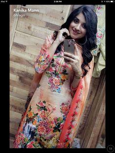 Nav jivan Shalwar Kameez, Salwar Suits, Indian Suits, Indian Wear, Punjabi Models, Profile Picture For Girls, Designer Punjabi Suits, Elegant Wedding Hair, Salwar Designs