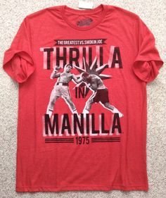 Men s roots of fight smokin joe frazier t shirt for Thrilla in manila shirt under armour