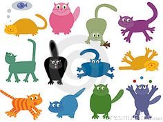 Collection of 12 cool cats by Flapper, via Dreamstime