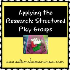 Applying The Research: Structured Play Groups